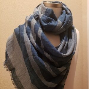 J.Crew Large Wrap Scarf in Denim Blue